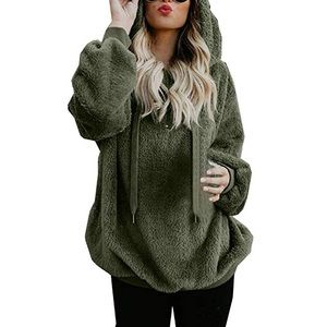 furry green pullover